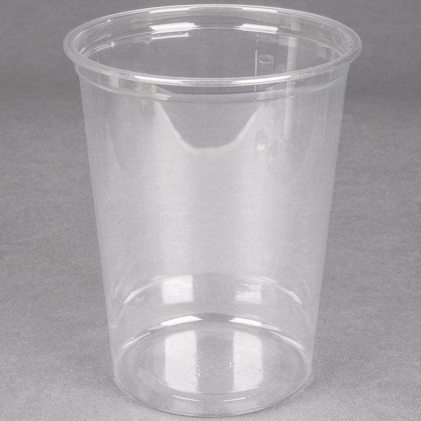 Choice 32 oz. Clear Plastic Round Deli Container - 500 / Case