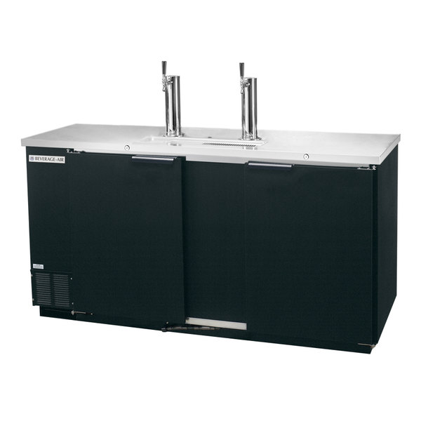 Beverage-Air DD58-1-B 59 inch Black Beer Dispenser - 3 Keg Kegerator