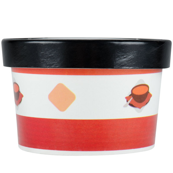 Choice 8 oz. Double-Wall Poly Paper Soup / Hot Food Cup with Vented Paper Lid - 250/Case