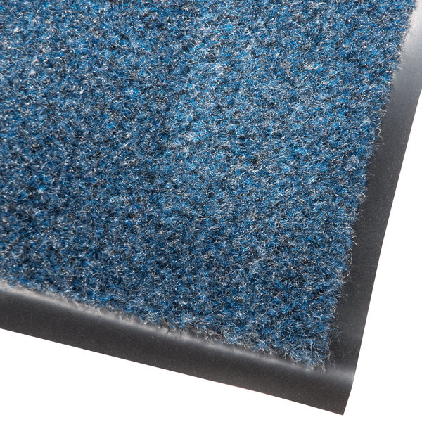 Cactus Mat 1437M-U46 Catalina Standard-Duty 4' x 6' Blue Olefin Carpet Entrance Floor Mat - 5/16 inch Thick