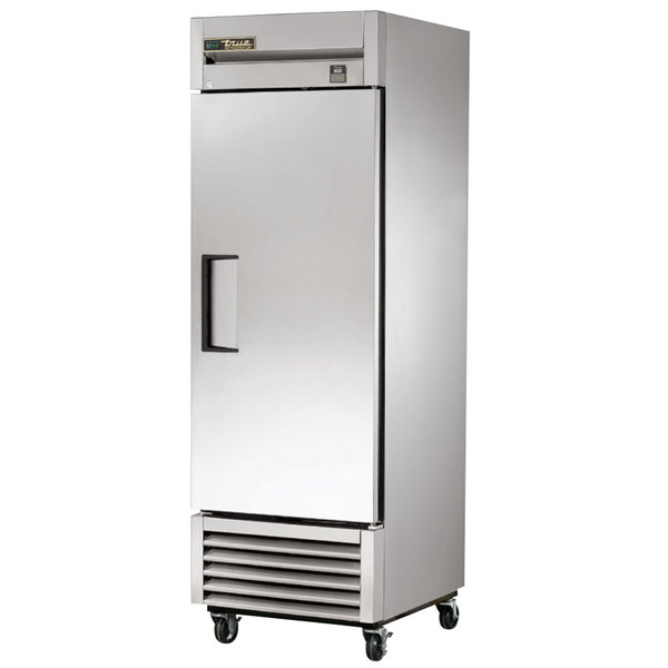 True TS-23-HC 27 inch Stainless Steel One Section Solid Door Reach-In Refrigerator