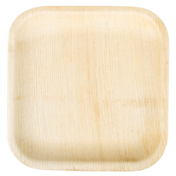 EcoChoice 8 inch Square Palm Leaf Plate - 25 / Pack