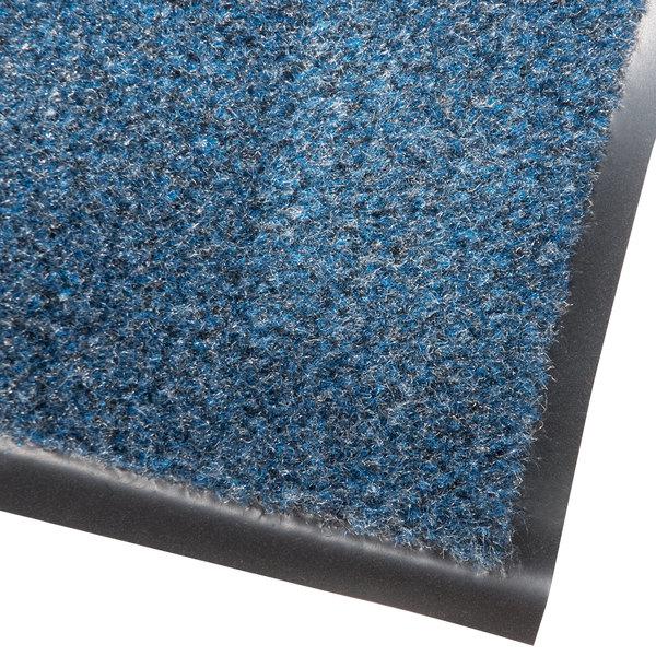 Cactus Mat 1437M-U23 Catalina Standard-Duty 2' x 3' Blue Olefin Carpet Entrance Floor Mat - 5/16 inch Thick