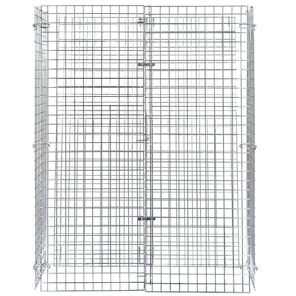 Regency NSF Chrome Wire Security Cage - 18 inch x 48 inch x 61 inch