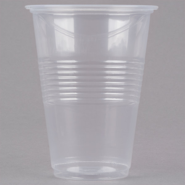 Choice 16 oz. Translucent Squat Thin Wall Plastic Cold Cup - 50/Pack