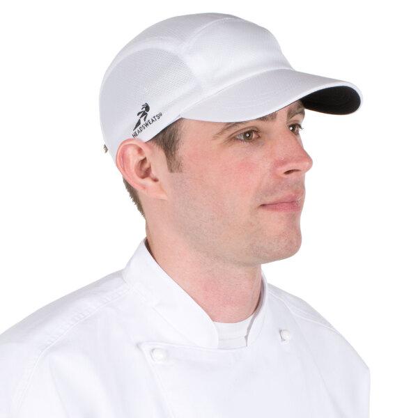 White Headsweats Customizable 7700-201 Coolmax Chef Cap