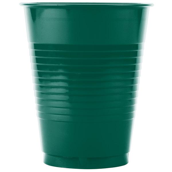 Creative Converting 28312481 16 oz. Hunter Green Plastic Cup - 240/Case