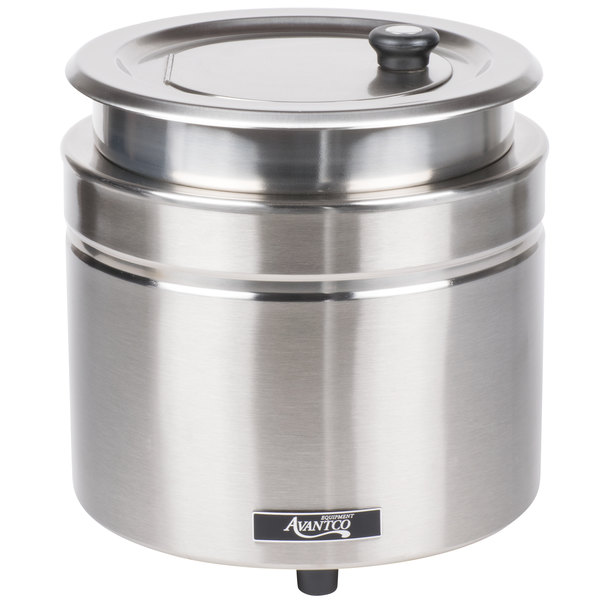 Avantco W800 11 Qt. Stainless Steel Countertop Soup Kettle Warmer - 120V, 800W