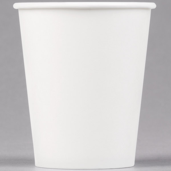 Dart Solo 370W-2050 10 oz. White Poly Paper Hot Cup - 1000 / Case