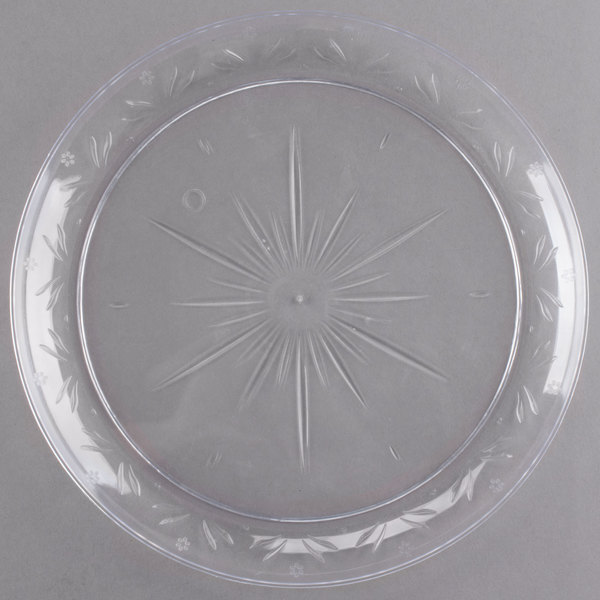 Choice Crystal 10 inch Clear Plastic Plate - 20/Pack