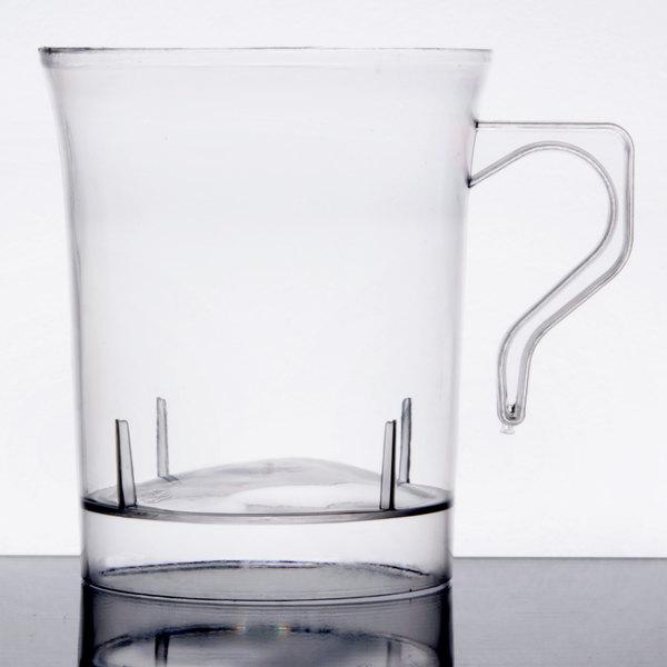 Visions 8 oz. Clear Plastic Coffee Mug - 192/Case