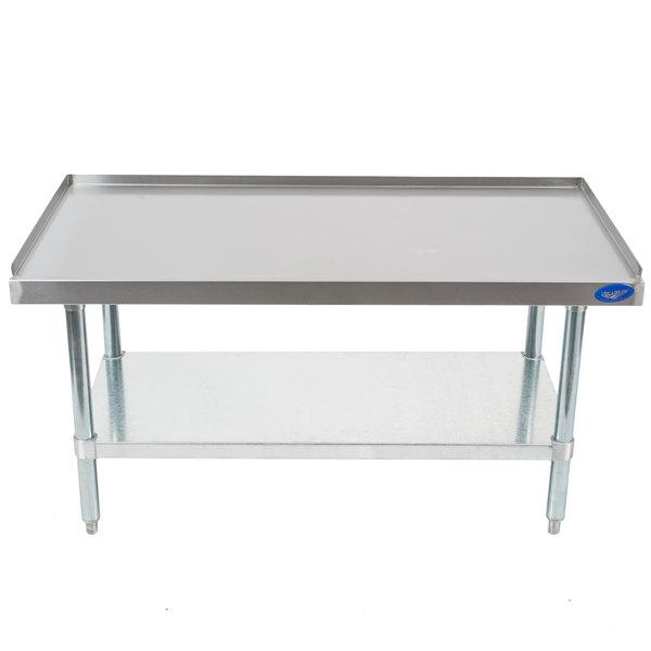 Vollrath 40742 48 inch x 24 inch Medium Duty Stainless Steel Equipment Stand with Galvanized Undershelf