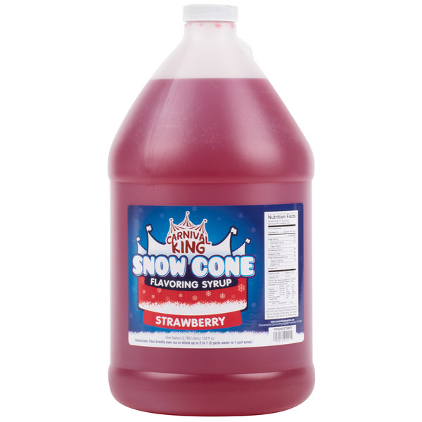 Carnival King 1 Gallon Strawberry Snow Cone Syrup
