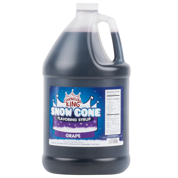 Carnival King 1 Gallon Grape Snow Cone Syrup - 4 / Case