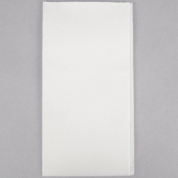 Hoffmaster FashnPoint 15 1/2 inch x 15 1/2 inch White 1/8 Fold Linen-Feel Dinner Napkin - 800/Case