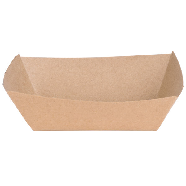 Southern Champion 509 #50 1/2 lb. Natural Kraft Eco-Print Paper Food Tray - 1000/Case