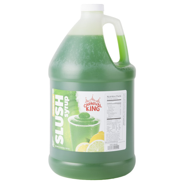 Carnival King 1 Gallon Lemon Lime Slushy Syrup - 4/Case