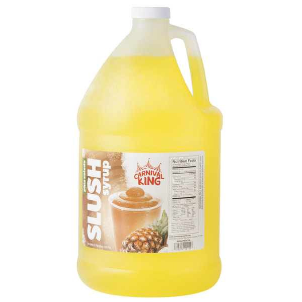 Carnival King 1 Gallon Pina Colada Slushy Syrup - 4/Case