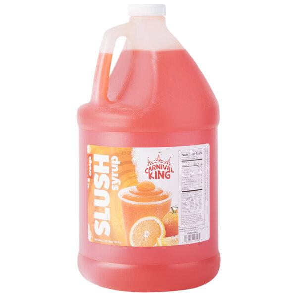 Carnival King 1 Gallon Orange Slushy Syrup