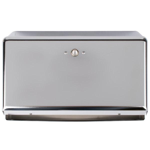San Jamar T1950XC Chrome Mini C-Fold / Multi-Fold Towel Dispenser