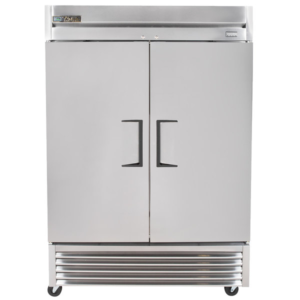 True TS-49-HC 55 inch Two Section Solid Door Reach-In Refrigerator