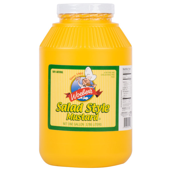 Woeber's 1 Gallon Salad Style Mustard  - 4/Case