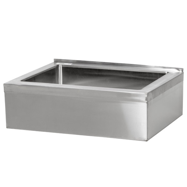 Wall Hung Mop Sink : ... Stainless Steel One Compartment Floor Mop Sink - 20