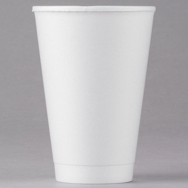 16 oz. White Foam Cup  - 1000/Case