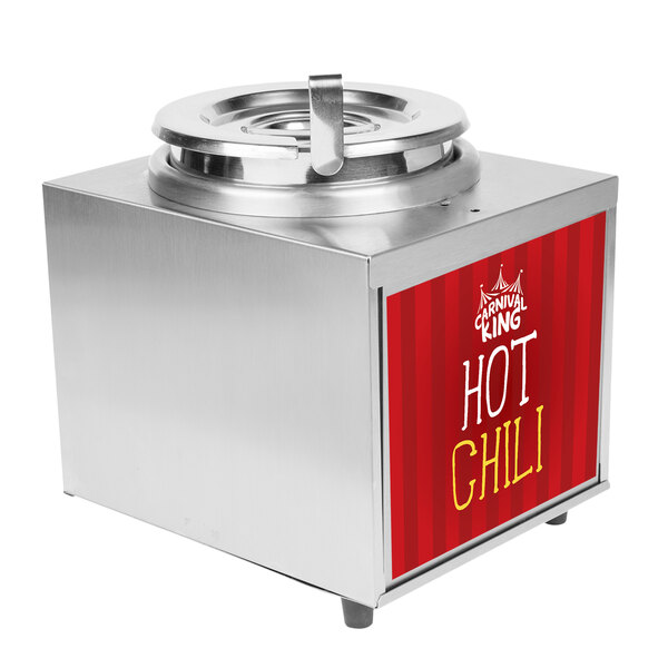 Carnival King RWLL35 3.5 Qt. Warmer with Inset, Lid, and Ladle