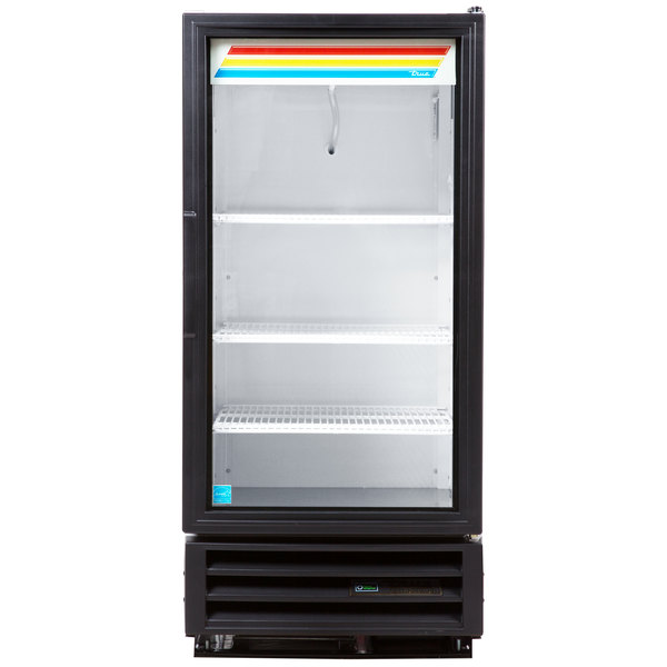 True GDM-10-HC-LD-WH White Glass Door Refrigerated Merchandiser with LED Lighting - 10 cu. ft.