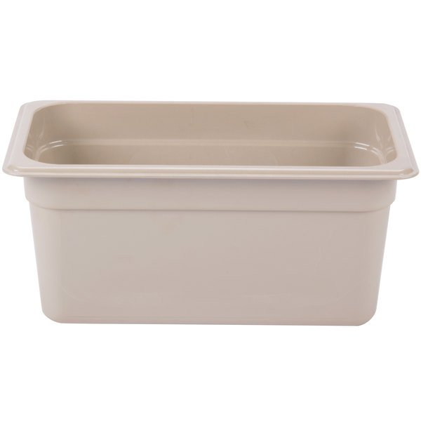 Cambro 36HP772 X-Pan 1/3 Size Sandstone High Heat Food Pan - 6 inch Deep