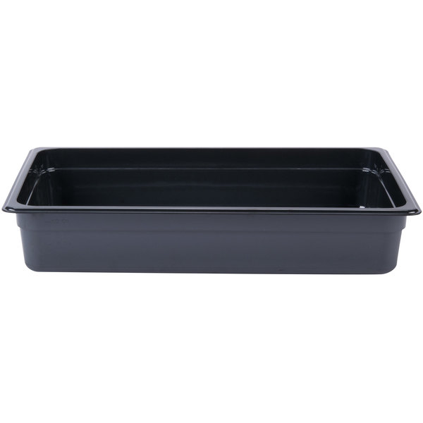Cambro 14HP771 X-Pan Full Size Onyx High Heat Food Pan - 4 inch Deep
