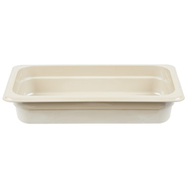 Cambro 32HP772 X-Pan 1/3 Size Sandstone High Heat Food Pan - 2 1/2 inch Deep