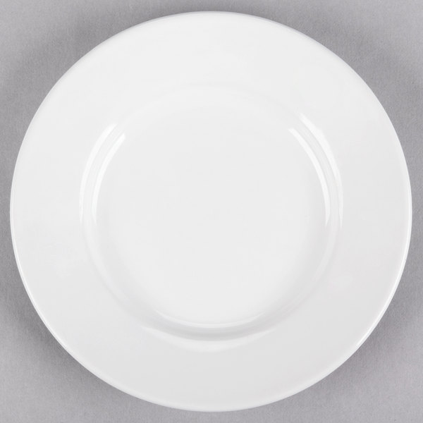 Core 5 1/2 inch Bright White Wide Rim Rolled Edge China Plate - 36/Case