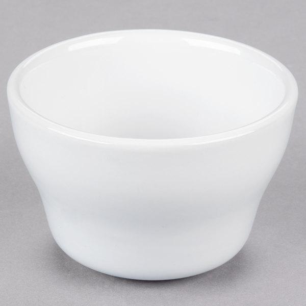 Core 7.25 oz. Bright White Wide Rim Rolled Edge China Bouillon Cup - 36/Case