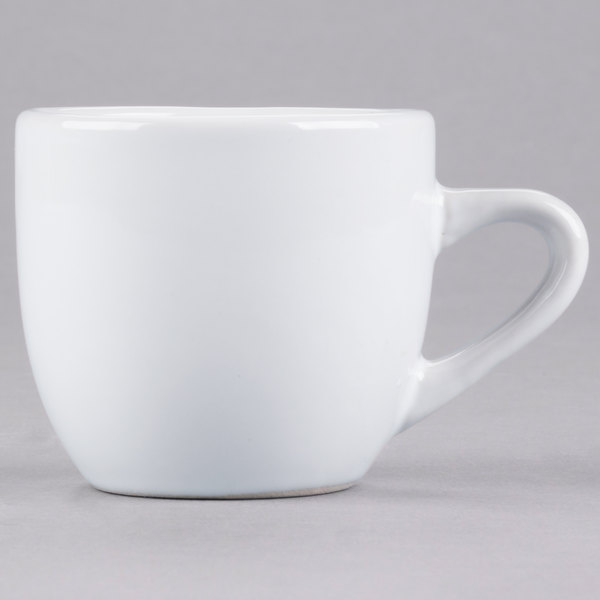 Core 3.5 oz. Bright White Wide Rim Rolled Edge China Tall Cup - 36/Case