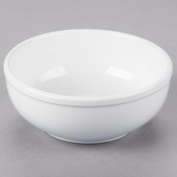 Core 15 oz. Bright White Wide Rim Rolled Edge China Nappie Bowl - 36/Case