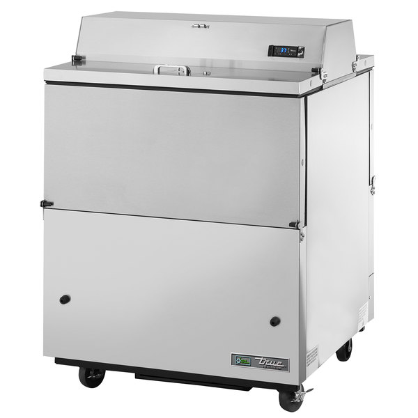 True TMC-34-S-DS-SS-HC 34 inch Two Sided Milk Cooler with Stainless Steel Interior and Exterior
