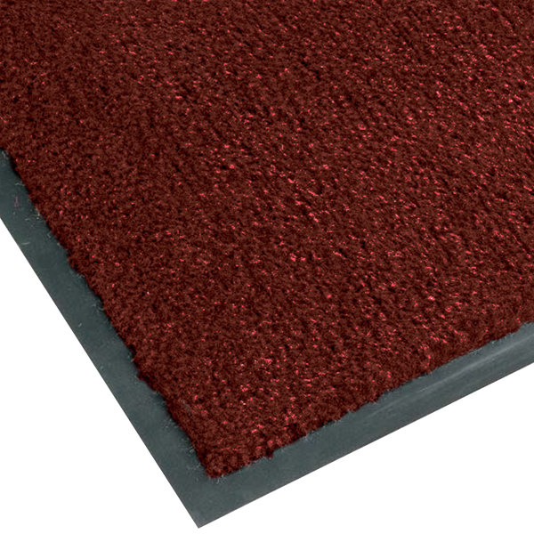Teknor Apex NoTrax T37 Atlantic Olefin 434-332 3' x 5' Crimson Carpet Entrance Floor Mat - 3/8 inch Thick