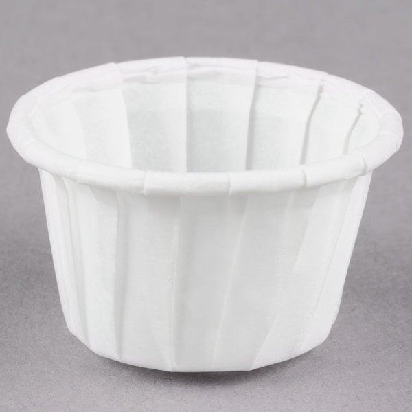 Dart Solo SCC050 .5 oz. Paper Souffle / Portion Cup 5000/Case