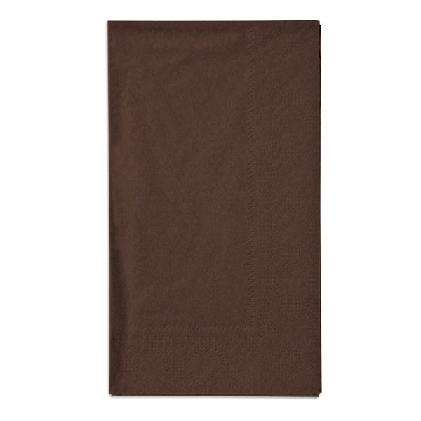 Hoffmaster 180554 Chocolate 15 inch x 17 inch Paper Dinner Napkins 2-Ply - 1000 / Case