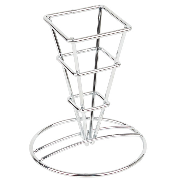 GET 4-21644 2 1/2 inch Mini Square Metal Cone Basket