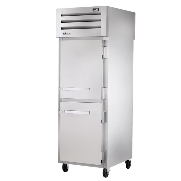 True STA1RPT-2HS-1S-HC Specification Series 27 1/2 inch Solid Half Door Pass-Through Refrigerator