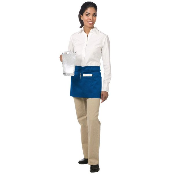 Chef Revival 605WAFH-RB Customizable Royal Blue Front of the House Waist Apron - 12 inchL x 24 inchW