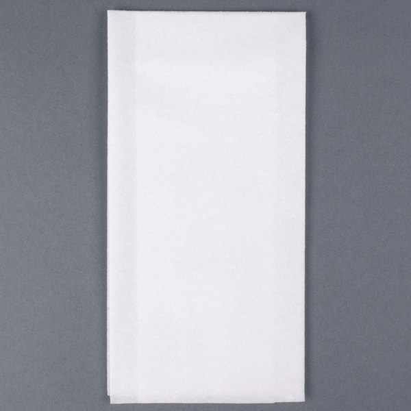 Hoffmaster 856499 Linen-Like 12 inch x 17 inch White 1/6 Fold Guest Towel 500/Case