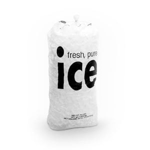 Follett 00116434 8 lb. Wicketed Ice Bag - 1000/Case
