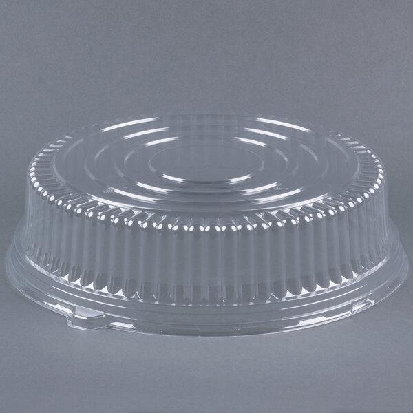 Fineline Platter Pleasers 9601-L 16 inch PET Plastic Round Dome Lid - 25/Case