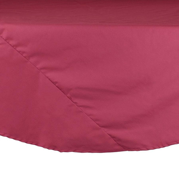 120 inch Mauve Round Hemmed Polyspun Cloth Table Cover