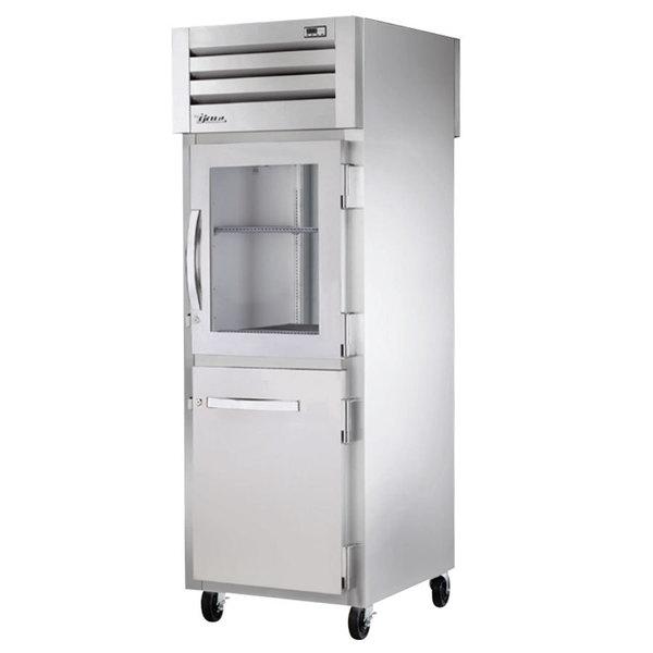 True STR1RPT-1HG/1HS-1S-HC Specification Series 27 1/2 inch Half Glass / Solid Front, Solid Back Door Pass-Through Refrigerator