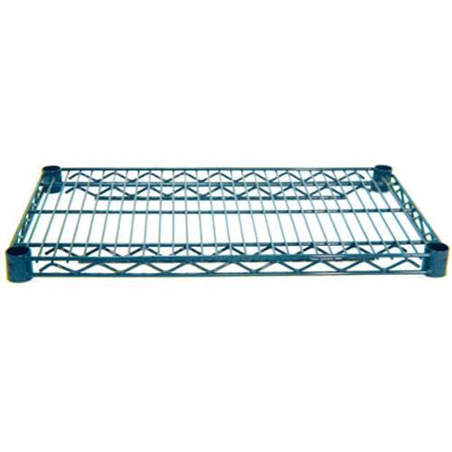 Advance Tabco EG-1436 14 inch x 36 inch NSF Green Epoxy Coated Wire Shelf